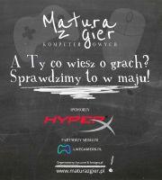 Plakat teaser zapowiadający event Matura z Gier 2015
